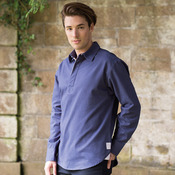Long sleeve plain drill shirt