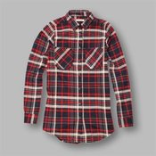 Charles - Women's multi check flannel shirt