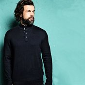 Prestige - Oxford woven button-up jumper