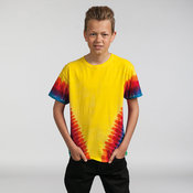 Kids rainbow vee T