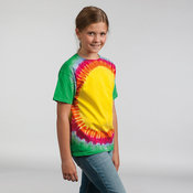 Kids rainbow sunburst T