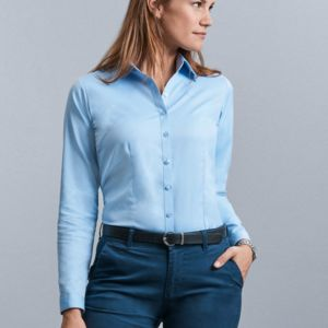 Russell Colelction Ladies H'Bone Shirt Thumbnail