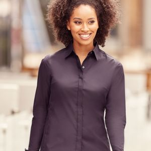 Russell Collection Ladies Stretch Shirt Thumbnail