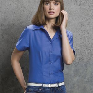 Ladies' Workwear Oxford Short Sleeve Shirt Thumbnail