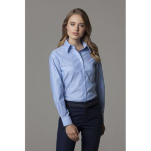 Women's workplace Oxford blouse long sleeved Thumbnail