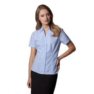 Women's pinstripe blouse short sleeved Thumbnail