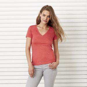 Triblend deep v-neck t-shirt Thumbnail