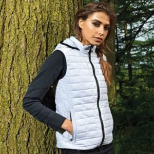 Women's honeycomb hooded gilet Thumbnail