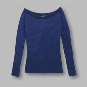 Jazz - ladies bardot neck long sleeve top Thumbnail